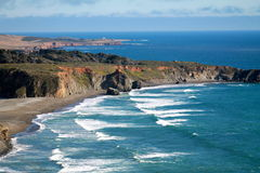 Волны вдоль Тихоокеанского побережья Стоковое Фото