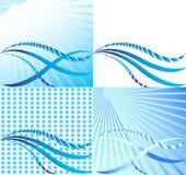 волны вектора солнечности сини установленные Стоковые Изображения RF