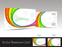 волны визитной карточки предпосылки цветастые белые Стоковая Фотография RF