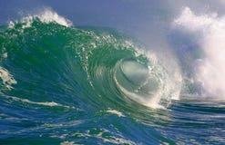 волны Гавайских островов занимаясь серфингом Стоковые Фотографии RF