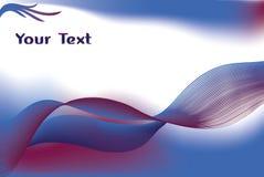 волны голубого красного цвета предпосылки Стоковое Изображение RF
