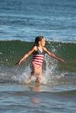 волны девушки Стоковое фото RF