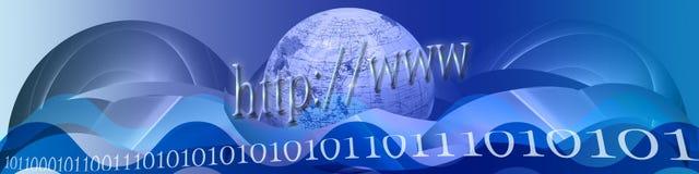 волны интернета знамени иллюстрация вектора