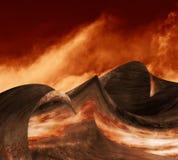 Волны металла ада иллюстрация штока