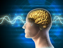 волны мозга иллюстрация штока