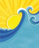 волны моря плаката Стоковые Изображения