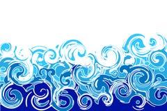 волны моря иллюстрация штока