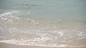 Волны на песчаном пляже видеоматериал