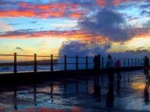 Волны на стене Стоковое Фото