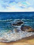 Волны океана или моря Стоковая Фотография