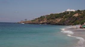 волны волны океана переднего плана фокуса Остров Бали ландшафт тропический акции видеоматериалы