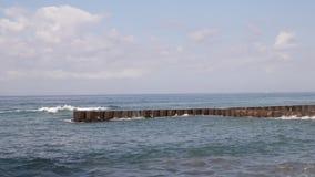 волны волны океана переднего плана фокуса Остров Бали сток-видео