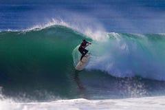 Волны океана положения цветового равновесия всадника прибоя Стоковые Фотографии RF