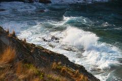 Волны пены Стоковая Фотография