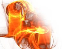 волны пожара Стоковое фото RF