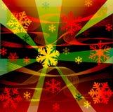 волны снежинок Стоковые Фото