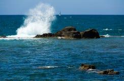 волны Средиземного моря Стоковое Изображение