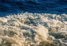 Волны сформировали от пропеллера корабля Стоковые Фото