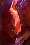 волны утеса каньона антилопы Стоковое Изображение