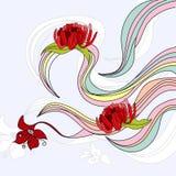 волны цветков Стоковые Изображения