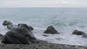 Волны Чёрного моря сток-видео