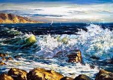 волны шторма Стоковое фото RF