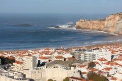 Волны Nazaré большие большие Стоковая Фотография