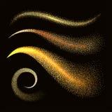 Волны stardust искры золотые блестящие Стоковое Изображение