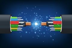 волокно кабеля оптически бесплатная иллюстрация