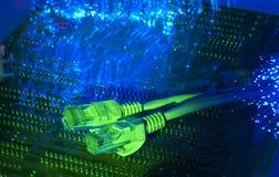 волокно кабеля предпосылки оптически Стоковое Изображение RF