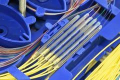 Волокно - оптический поднос соединения стоковые фотографии rf