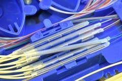 Волокно - оптический поднос соединения стоковое фото