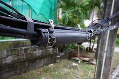 Волокно - установка оптического кабеля Стоковые Изображения