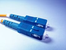 волокно шнура - оптическая заплата Стоковые Изображения RF
