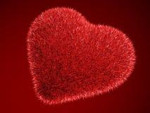 волосатый красный цвет сердца Стоковая Фотография