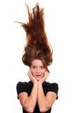 волосы вверх стоковое изображение