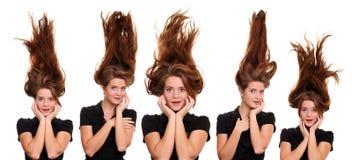 волосы вверх стоковые фото