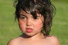 волосы влажные Стоковые Фотографии RF