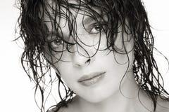 волосы влажные Стоковое Фото