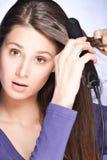 волосы внимательности Стоковое Фото