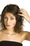 волосы вручают ее стоковая фотография rf