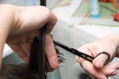 волосы вырезывания стоковое фото