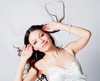 волосы девушки брюнет длиной Стоковое Фото