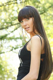 волосы девушки воздуха длиной открытые Стоковое Изображение RF