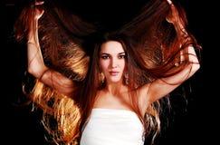 волосы девушки длинние Стоковое Фото