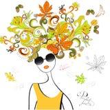 волосы девушки способа осени Стоковые Фотографии RF