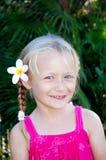 волосы девушки цветка стоковые фотографии rf