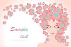 волосы девушки цветков Стоковое Изображение RF
