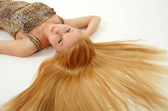 волосы длиной Стоковые Изображения