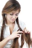 волосы заплетения Стоковое Изображение